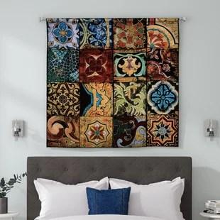 arabian nights living room wall color with brown sofa wayfair i bw tapestry