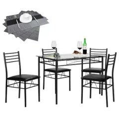 Black Table And Chairs Folding Foam Chair Bed Child Kitchen Dining Room Sets You Ll Love Wayfair Quickview