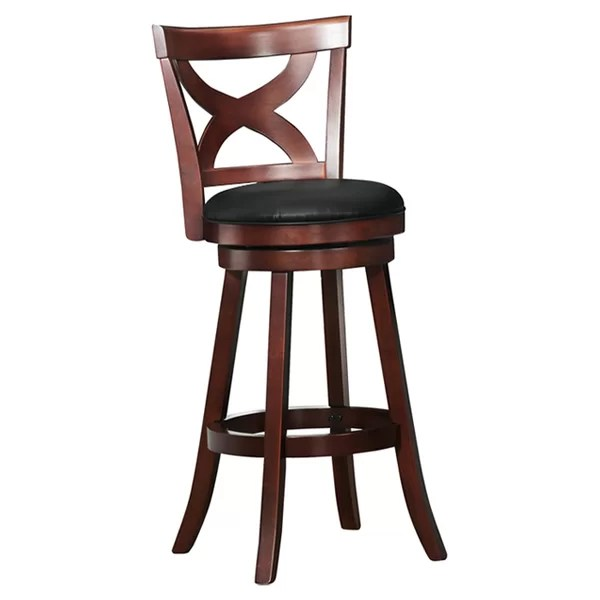 revolving chair for kitchen graco finley high swivel barstools you ll love wayfair