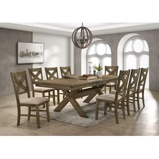 dining room tables and chairs folding chair liquidation kitchen sets you ll love poe 9 piece extendable set