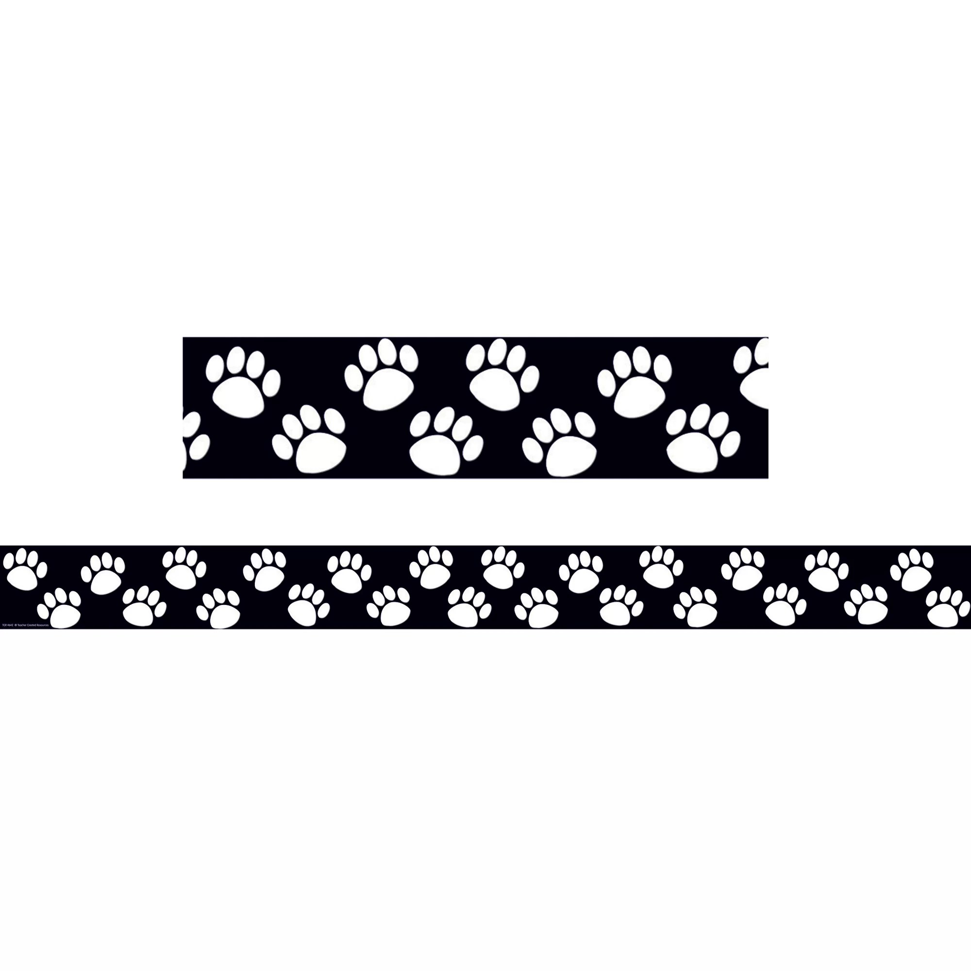 Teacher Created Resources Black With White Paw Prints