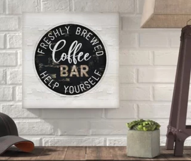 Coffee Bar Textual Art On Canvas
