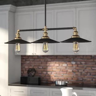 kitchen island pendant lights travel trailers with outdoor kitchens lighting you ll love wayfair dobson 3 light
