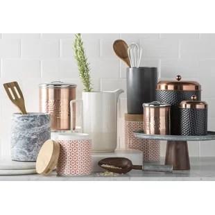 kitchen crock farmhouse sink for sale utensil crocks holders you ll love wayfair ca concrete