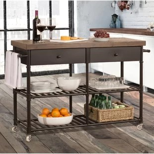 cart for kitchen cabinets island islands carts you ll love wayfair elmsford