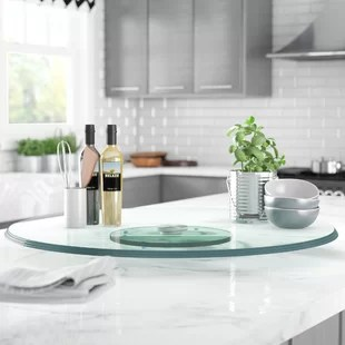 kitchen lazy susan island with chairs find susans for your wayfair fenley glass top