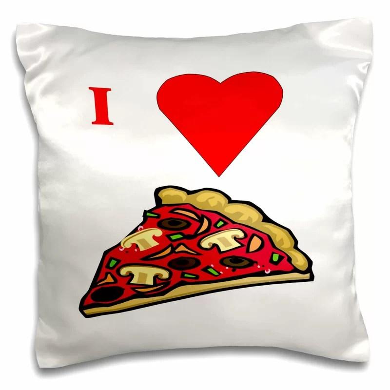 i love pizza pillow