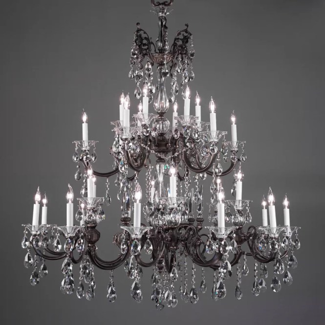 Via Lombardi 30 Light Crystal Chandelier