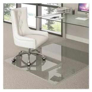 desk chair glass mat for living room wayfair hard floor straight edge