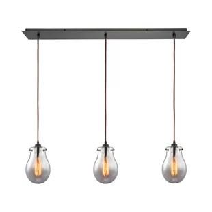 oil rubbed bronze kitchen island lighting modern white cabinets wayfair sarita 3 light pendant