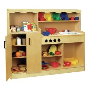 wood kitchen playsets sprouted book play sets accessories you ll love wayfair 4 in 1