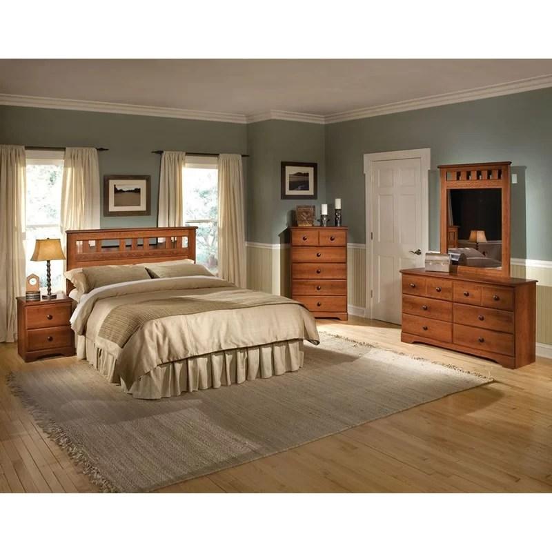 alcott hill suffield queen platform 5 piece bedroom set & reviews