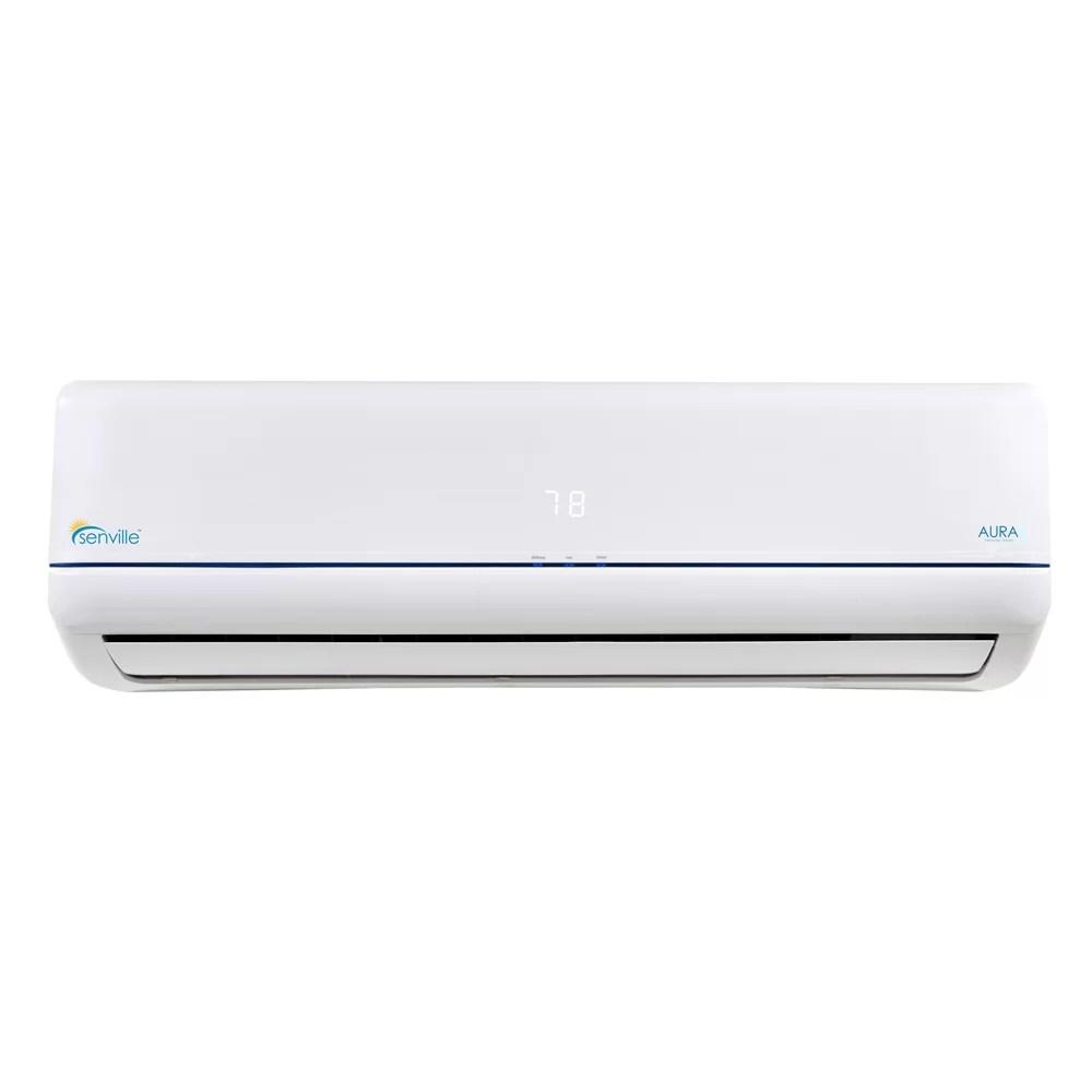 medium resolution of senville aura 36 000 btu energy star ductless mini split air conditioner with remote wayfair