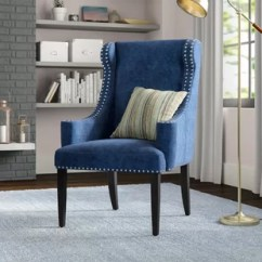 Blue Chair Living Room Parisian Style Accent Chairs You Ll Love Wayfair Ca Save