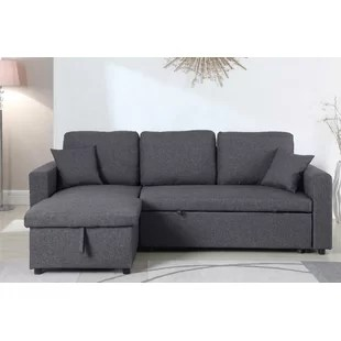 gray sofa with chaise lounge mart lansing mi grey sectionals you ll love wayfair quickview black