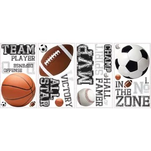 sports wall decals you ll love wayfair