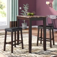 Small Pub Table And Chairs Coleman Folding Nz Tables Bistro Sets You Ll Love Wayfair Daisy 3 Piece Counter Height Set