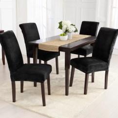 Dining Chair Covers Velvet Target Tufted Rollback Slipper Canora Grey Plush Slipcover Wayfair