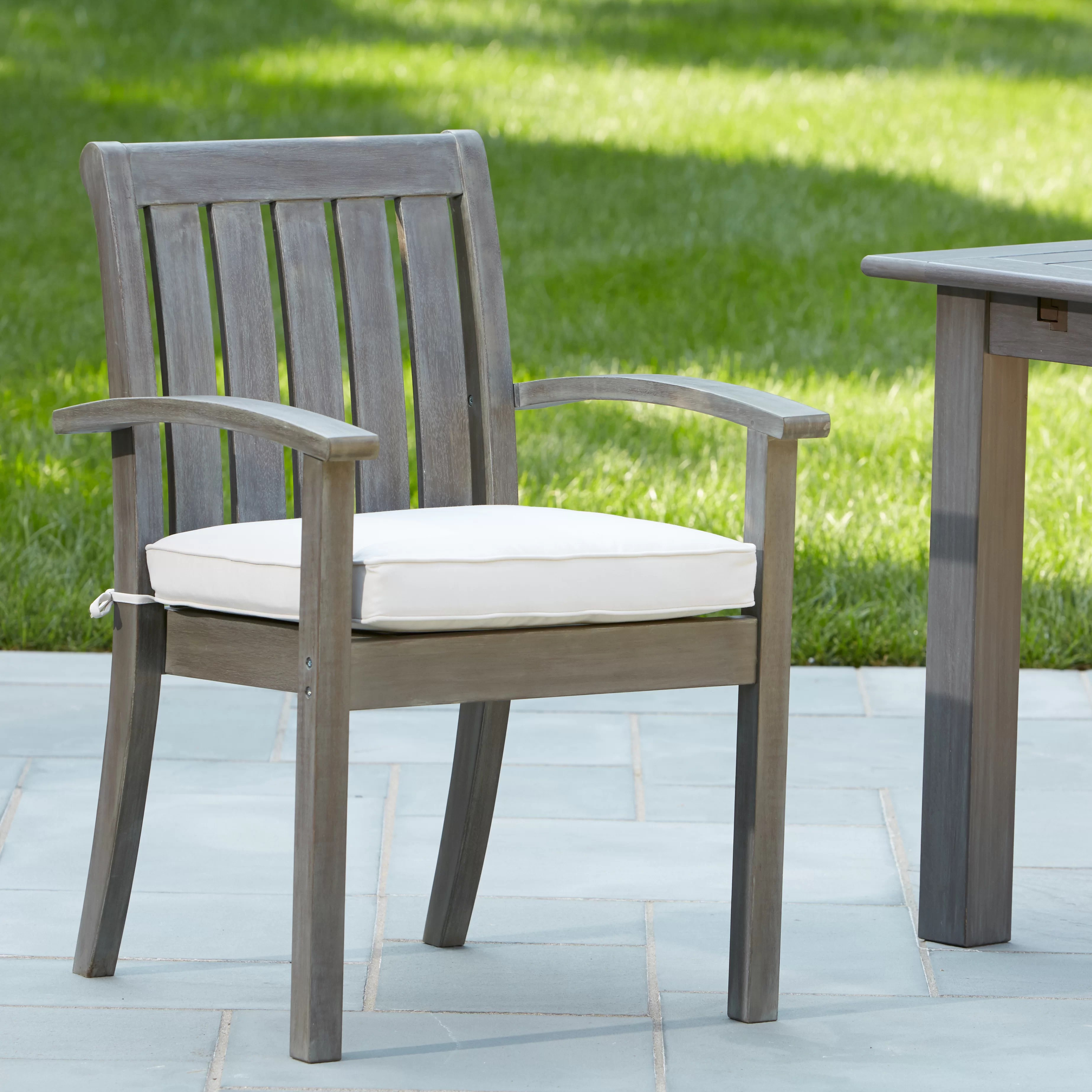 Stacking Dining Chairs Rossi Stacking Patio Dining Chair With Cushion