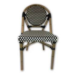French Rattan Bistro Chairs Chair Legs For Sale Wayfair Cafe Patio Dining