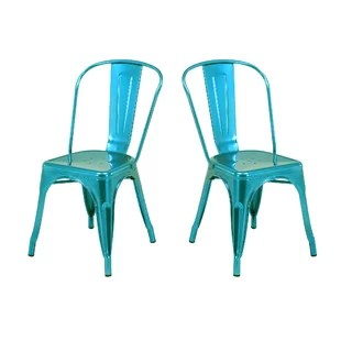 rustic metal dining chairs high chair for boy wayfair quickview