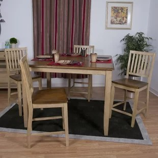 high top table with 6 chairs ciao baby portable chair pub tables bistro sets birch lane huerfano valley piece set