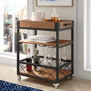 kitchen wine rack cabinets drawers cart with wayfair ca zona