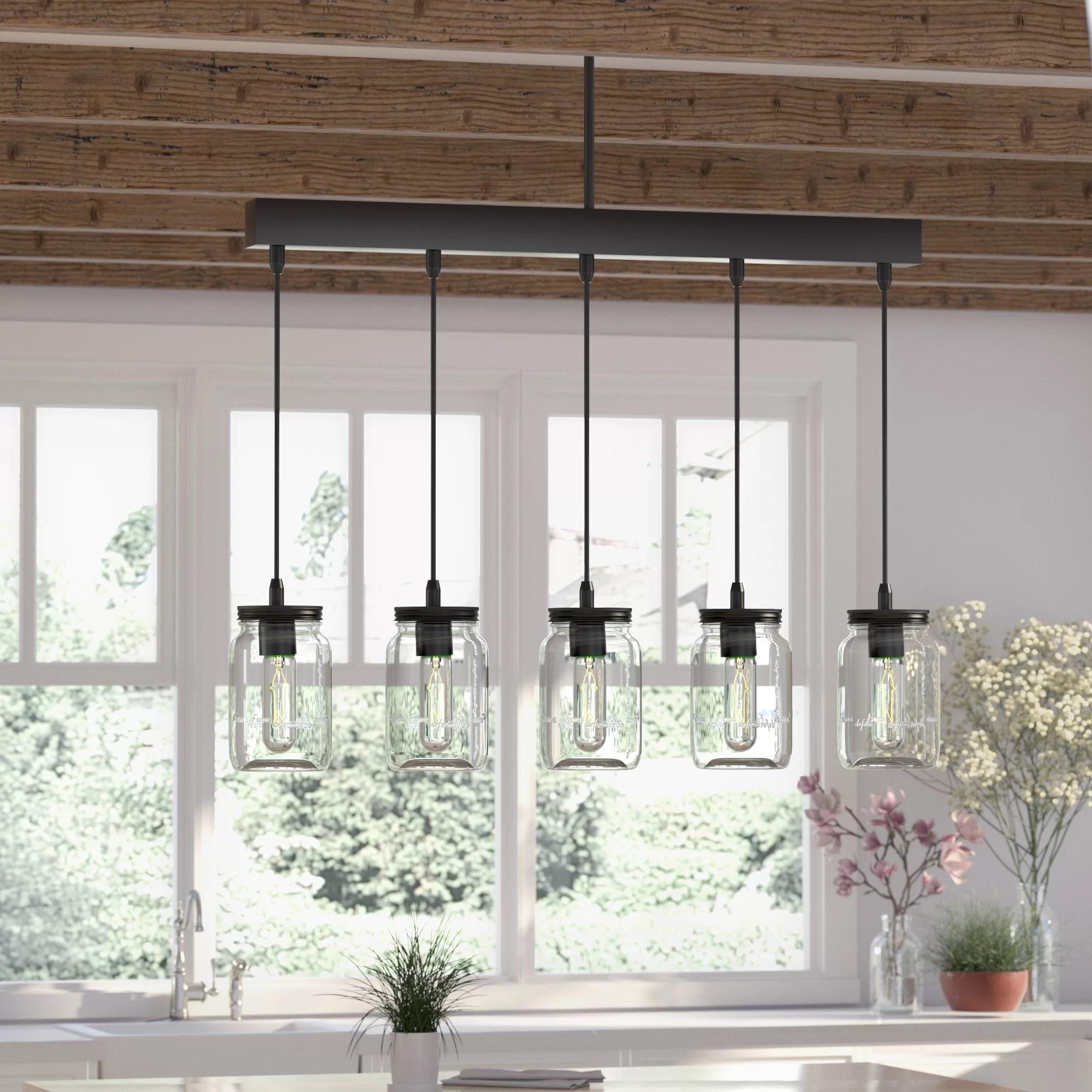 kitchen pendant china cabinet august grove vickie 5 light island reviews wayfair