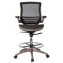 Mesh Drafting Chair Office With Coccyx Cut Out Ebern Designs Mignone Mid Back Transparent Wayfair