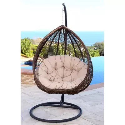 teardrop swing chair best table and sets for toddlers mistana destiny tear drop with stand reviews wayfair ghazali