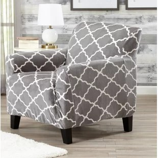 gray chair slipcover cane back dining accent slip cover wayfair quickview aqua