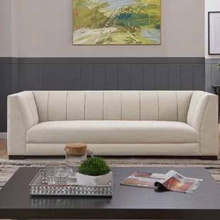 low sofa design leatherette cleaner wayfair ca fraser tufted back in light grey plush pile velvet
