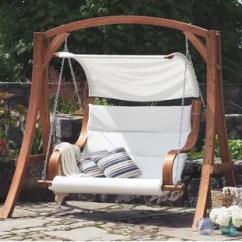 Swing Chair Garden Uk Lovesac Bean Bag Bench Wayfair Co Wooden Seat
