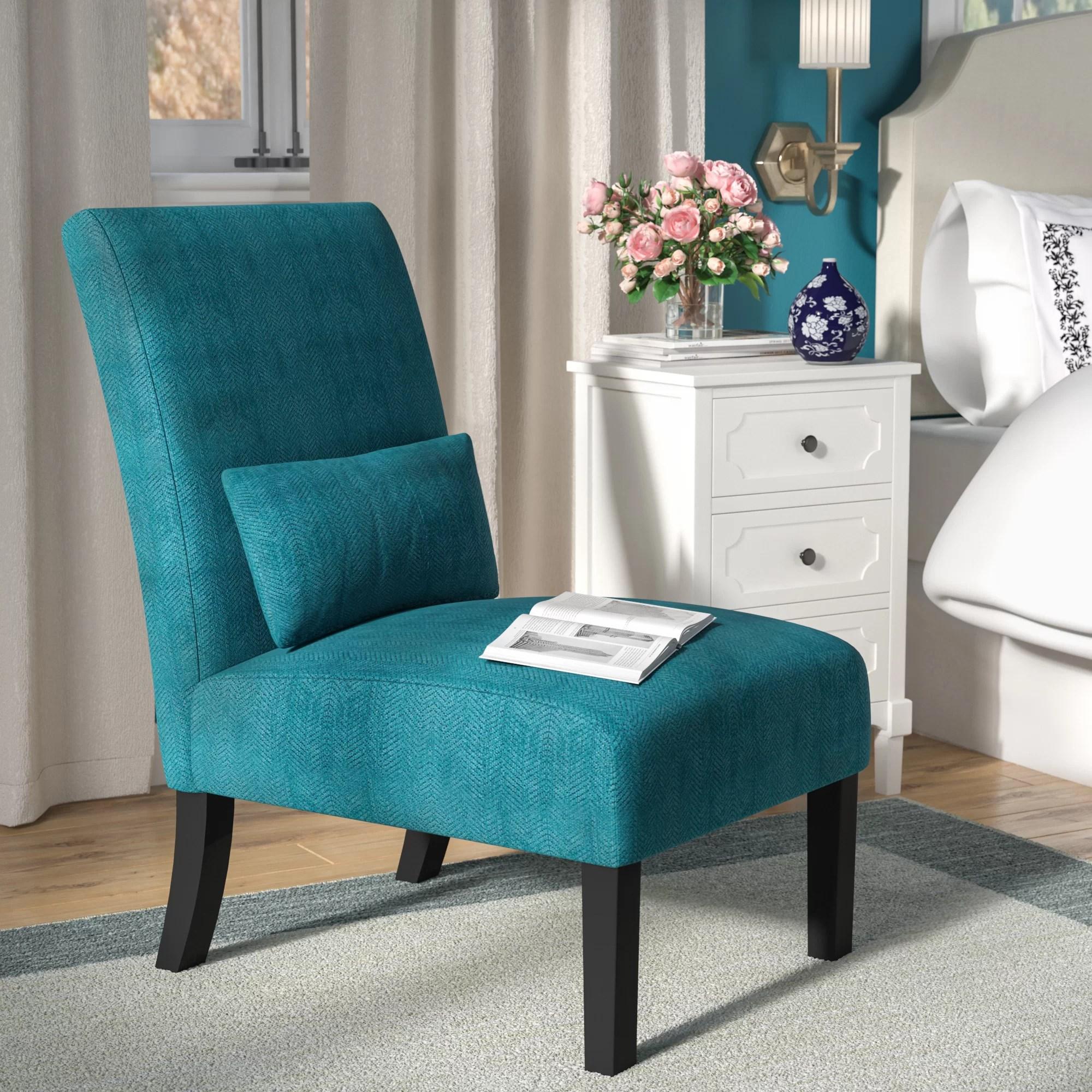 teal accent chair good desk for gaming chairs wayfair randi slipper