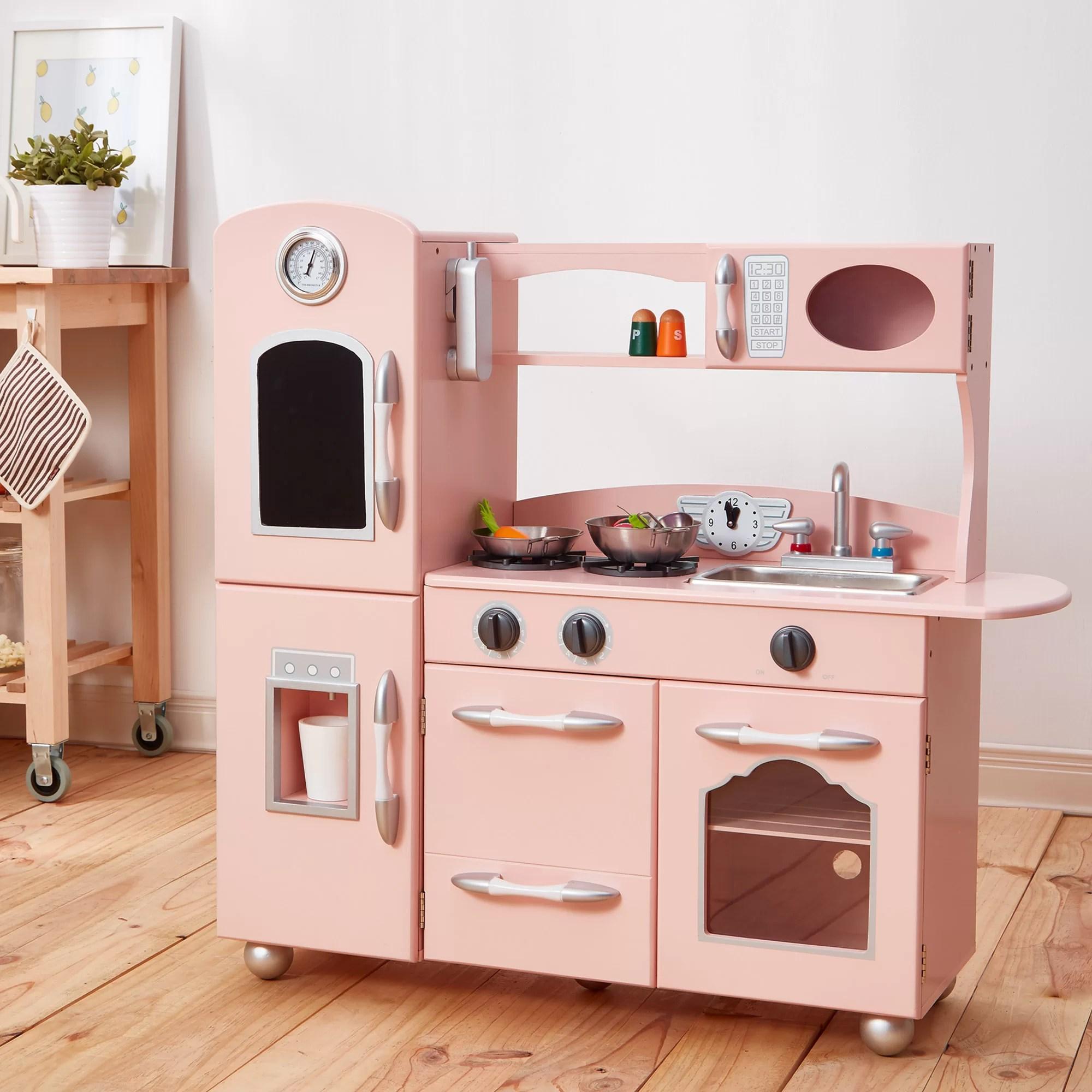 wood kitchen set outdoor design teamson kids reviews wayfair co uk