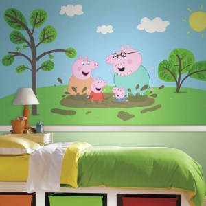 peppa pig mural strippable xl rail chair moose prepasted ultra murals enterprise roommates mates pasted panel pre magnifying glass roommatesdecor