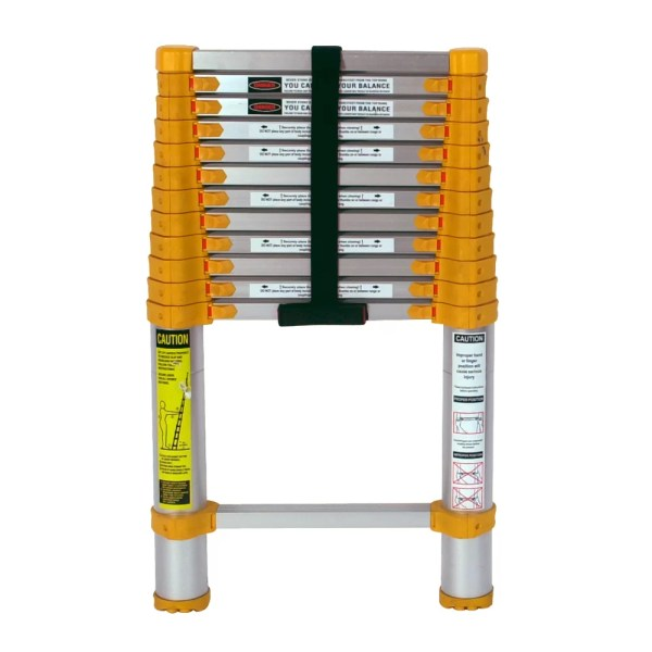 Xtend Climb 12.5 Ft Aluminum Telescoping Extension Ladder With 225 Lb. Load Capacity &
