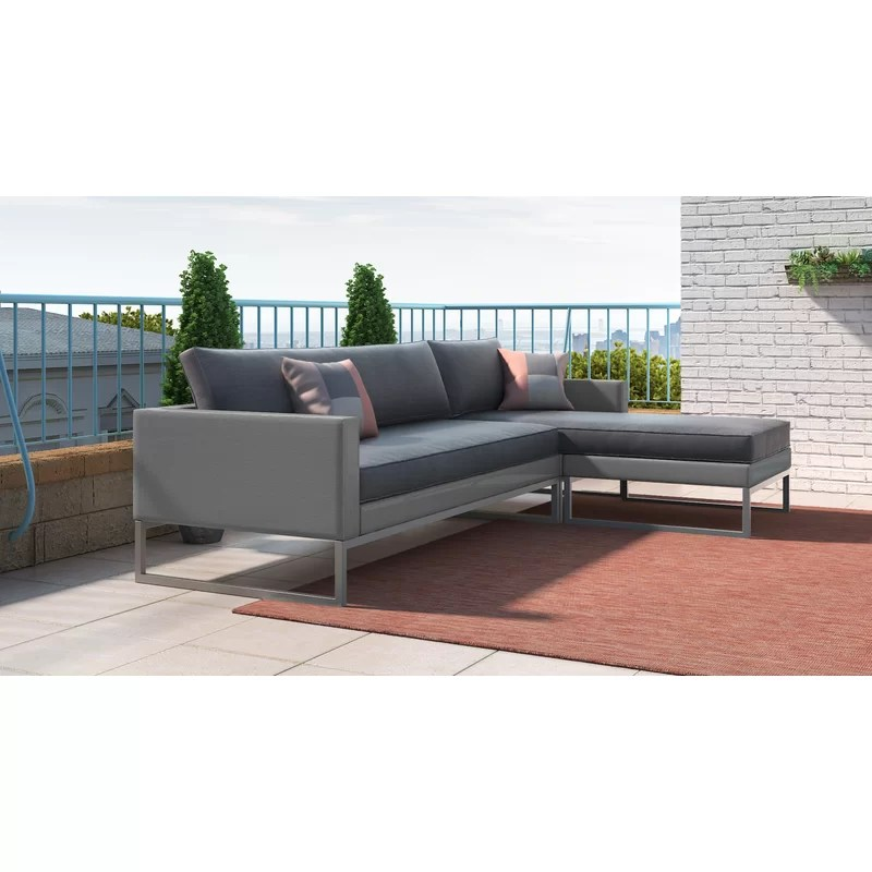 al fresco st tropez hanging chair and cushion plastic bar chairs bunnings elle decor patio sectional with cushions wayfair