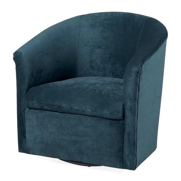 swivel chair for office designboom latitude run galen barrel & reviews   wayfair