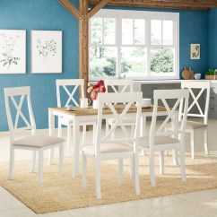 6 Chair Dining Set Leather Club Modern August Grove Isabelle With Chairs Reviews Wayfair Co Uk