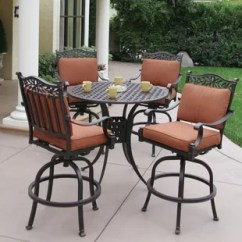 Outdoor Bar Table And Chairs Memory Foam Butterfly Chair Height Patio Sets Joss Main Fairmont 5 Piece Dining Set With Cushions