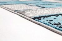 Ebern Designs Apodaca Dusty Brick Light Blue/Grey Area Rug ...