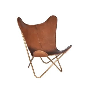 leather chair modern covers christmas contemporary tan allmodern justa butterfly