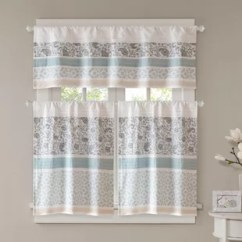 Curtains For The Kitchen Steamer Rod Pocket Valances You Ll Love Wayfair Chambery Printed And Pieced