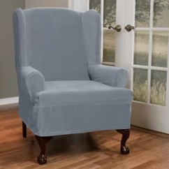 Wingback Chair Cover And Ottoman Slipcovers Wing Back Slip Covers Wayfair T Cushion Slipcover