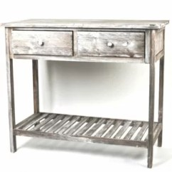 Kitchen Console Table Brushed Nickel Faucet With Sprayer Wayfair Foxburg Wooden