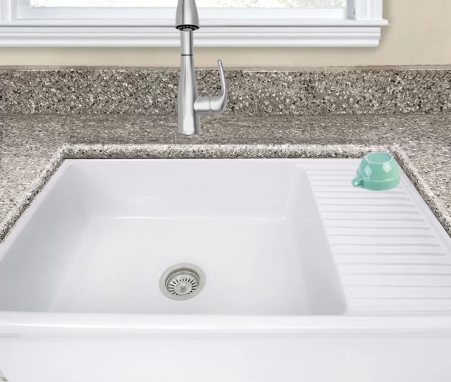Cape  Farmhouse Apron Sink With Built In Drainboard