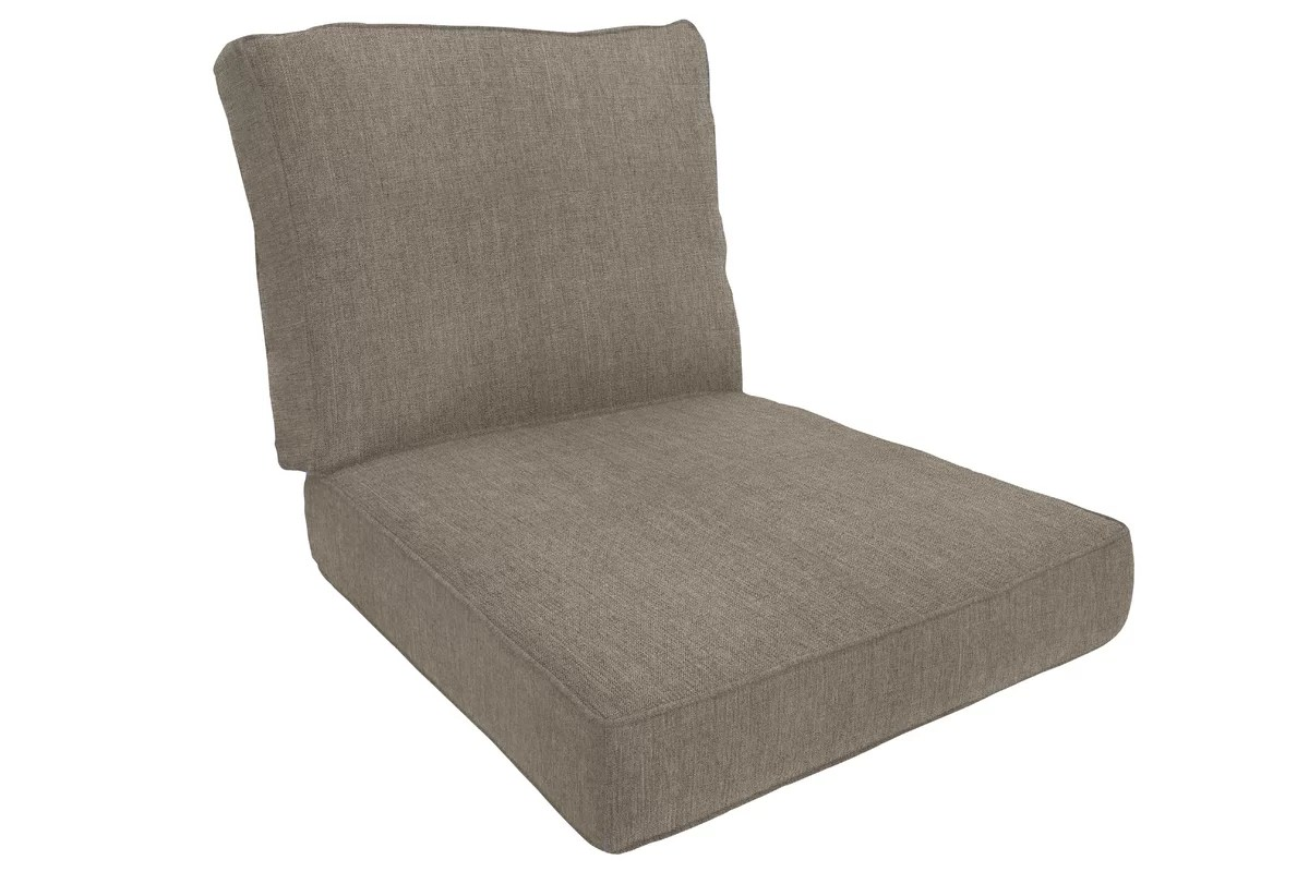 double lounge chair outdoor ikea dining room covers uk wayfair custom cushions piped