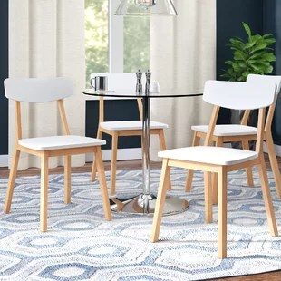 set of 4 dining chairs chair covers for weddings uk kitchen you ll love wayfair eppler