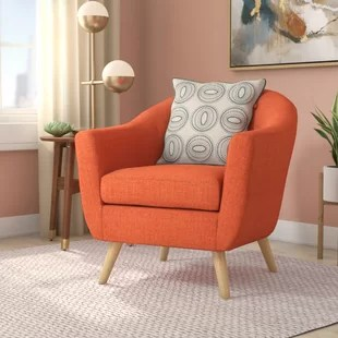 chair in living room wall unit design for india round barrel chairs you ll love wayfair quickview